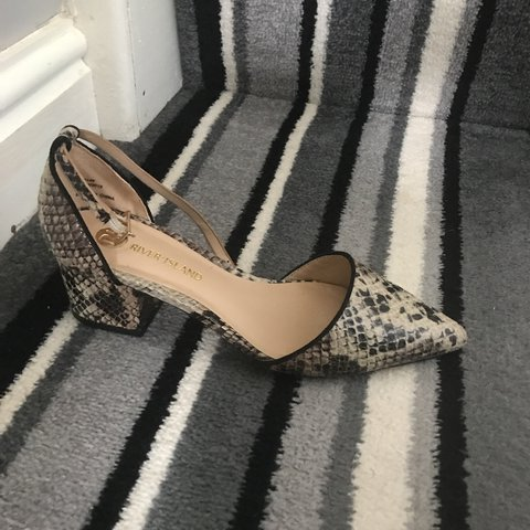 0c73b8f712d9 River Island size 4 pointed toe shoes. Snakeskin