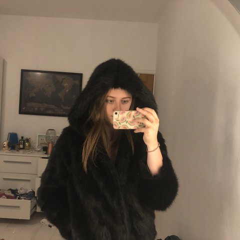 354d229a1 @siannelson. 8 months ago. United Kingdom. fanny lyckman x missguided black  faux fur hooded coat