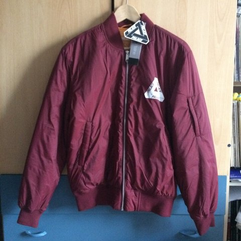 5e15ca0f87a1  WTS  NEW with tags! Palace Thinsulate Bomber. Cordovan Size - Depop
