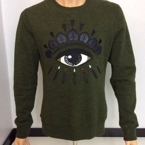 136c4cd3 Mens Kenzo Jumper Khaki all seeing eye edition, size medium - Depop