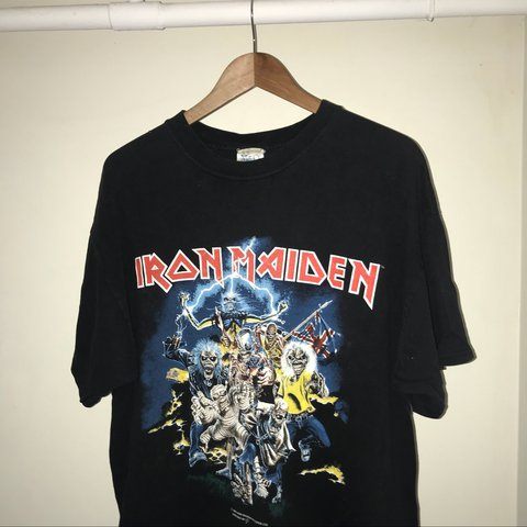 396009bd61d 1996 VINTAGE IRON MAIDEN BEST OF THE BEAST TEE ADULT XL - Depop