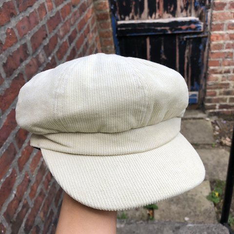 18a8debd1c0 Brand new cream baker boy hat from urban outfitters! Y2K - Depop