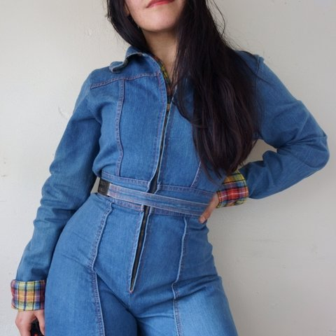855596061ce Dreamy and incredibly RARE true 60s 70s denim jumpsuit by ❤ - Depop