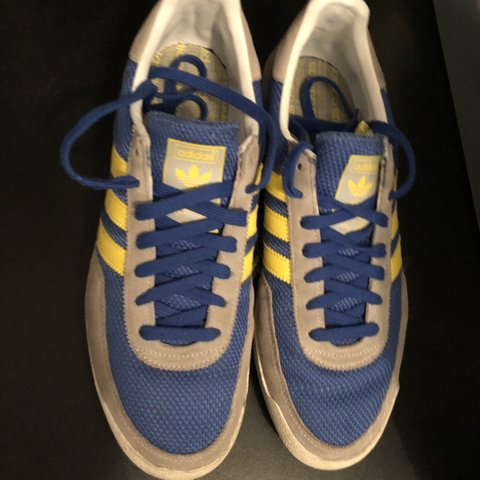 Adidas trainers! Blue grey and yellow