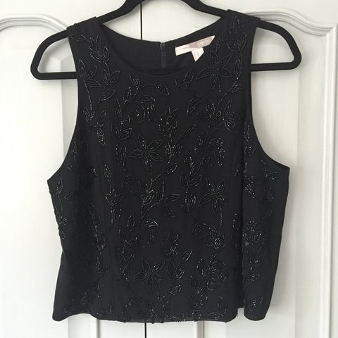 e25cbad4 Forever 21 black sequin detail vest top. This is a lovely in - Depop