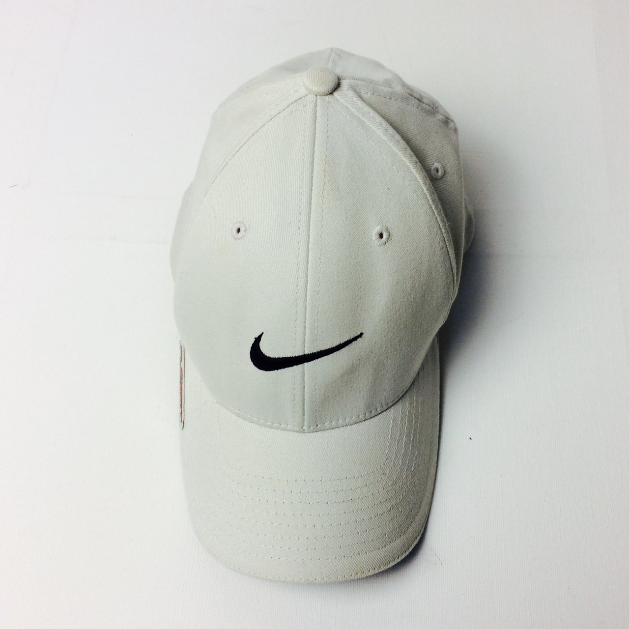Classic Nike cap. Beige  cream. Great condition. Flexifit to - Depop 8478af56abc