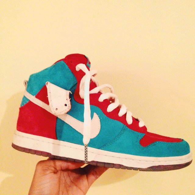 b53480074f Nike SB Dunk Hi Varsity Red Blue. Hardly worn. Don t see a - Depop