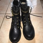 59a639553fde8 Current Mood Obsidian Pocket Combat Boots In original box - Depop