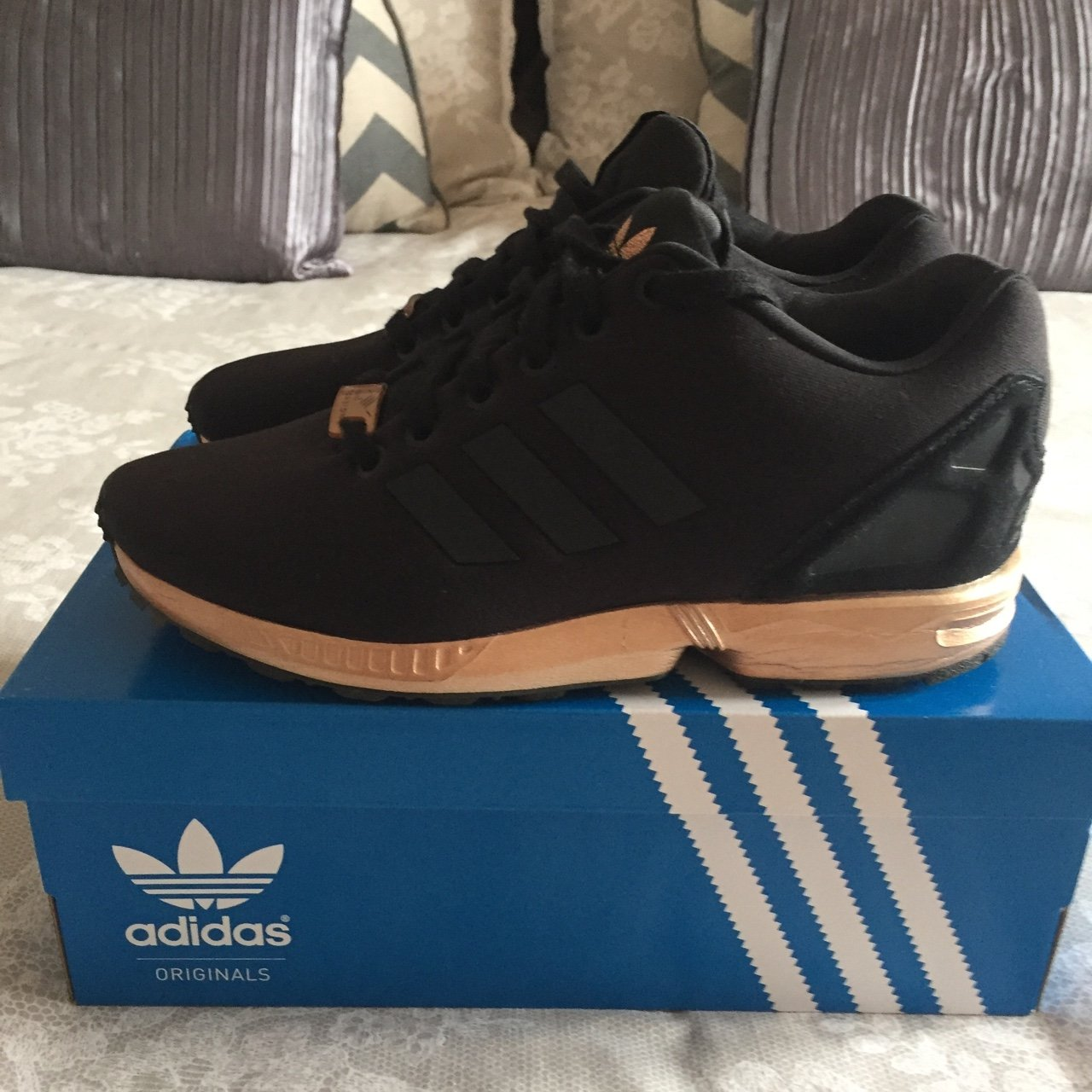 Adidas ZX Flux copper sole. Worn once. Message me a offer - Depop 9e9768f74