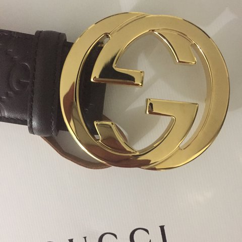 42a88500bff New authentic Gucci belt with box and dust bag - Depop