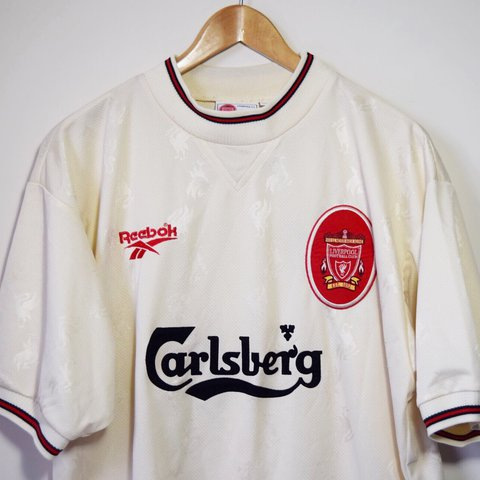 0be14bc027e 🔥 Vintage Liverpool FC 96-97 Away Kit Shirt 🔥 🔥 Great fit - Depop