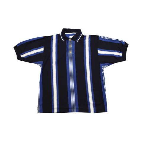 0909ab56 @sashasvintage. last year. Exeter, United Kingdom. Vintage 90s Stripe Polo  Shirt