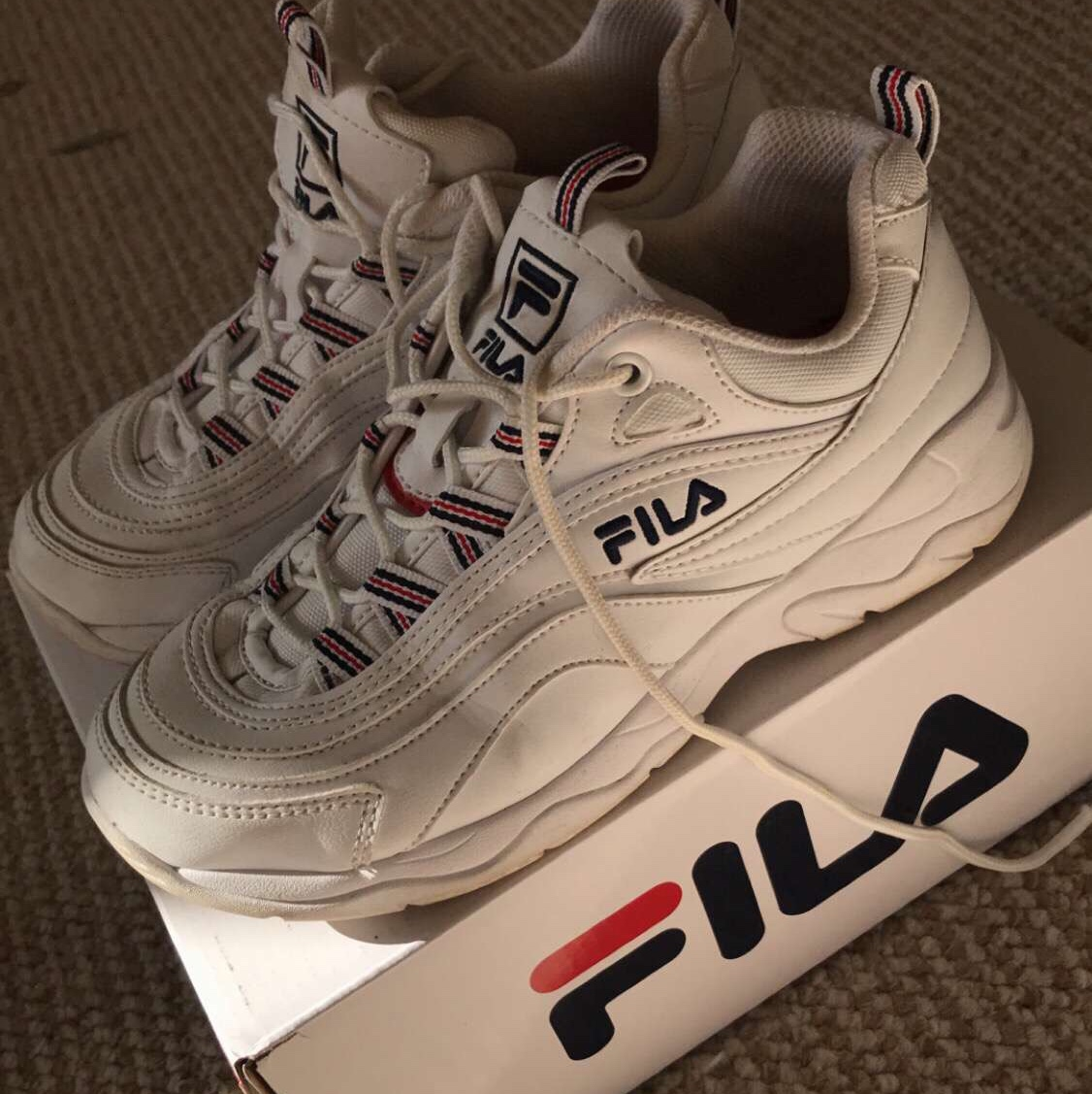 Fila Rays UK 5 Very good condition Comes with OG box Depop