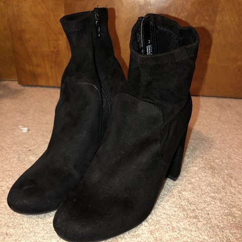 69ab601c2c6b Target A New Day black heeled boots. These were worn only is - Depop