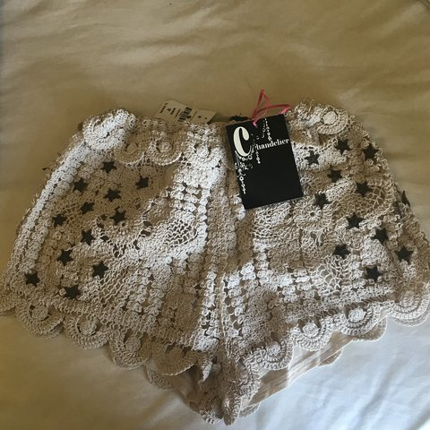 Lf Crochet Star Shorts Size 12 Aus But More Like A Small Depop