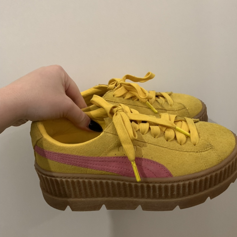 free shipping 6835b 0340c Fenty puma creepers in yellow.Puma Message for... - Depop