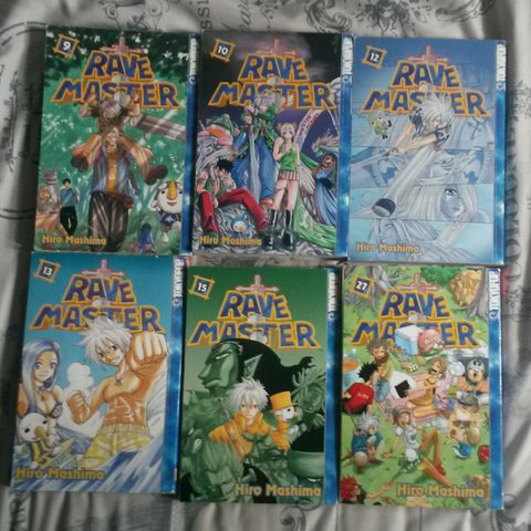 Manga Books Rave Master Vol 9 10 12 13 15 27 Each