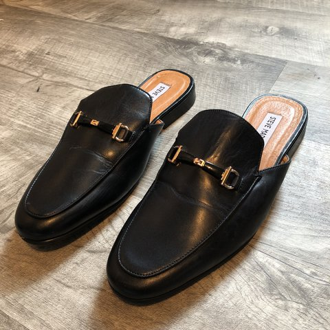 fa72f438b51 Men s leather mule loafers. Wore them once. Listed on for a - Depop