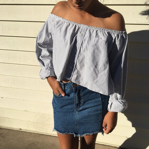f288d985 @daviddkp. last year. Torrance, United States. off the shoulder button up  ...