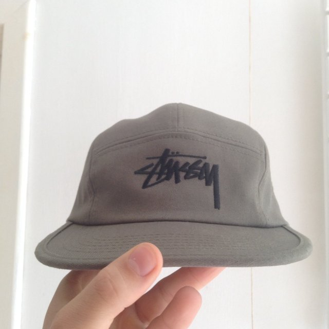 8ace614aece2a9 Stussy Classic 5 Panel in Olive Green / Khaki. One Size Fits - Depop