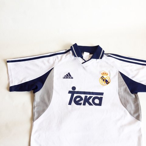1999faf7e Real Madrid 2000-2001 jersey with teka Excellent condition - Depop