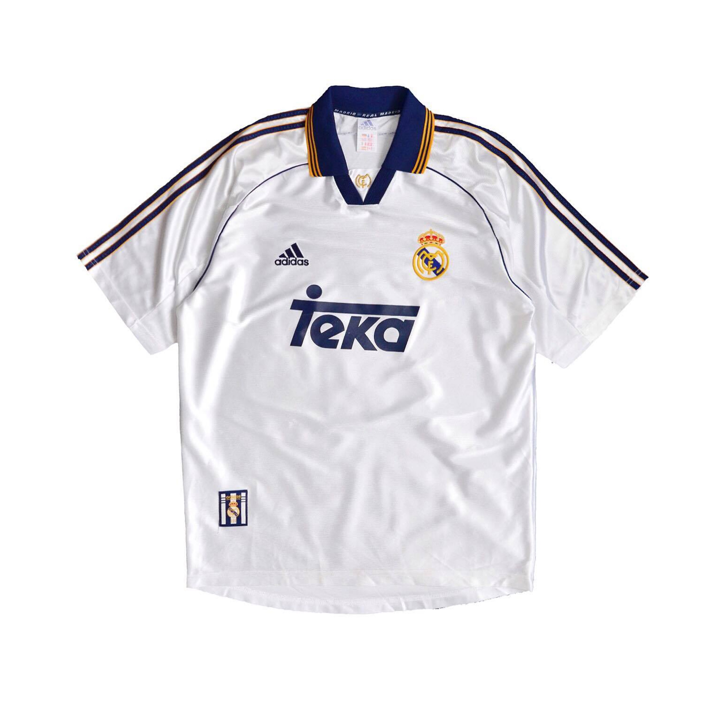 new styles ee6e2 d9ede Real Madrid vintage 2000-2001 jersey with teka... - Depop