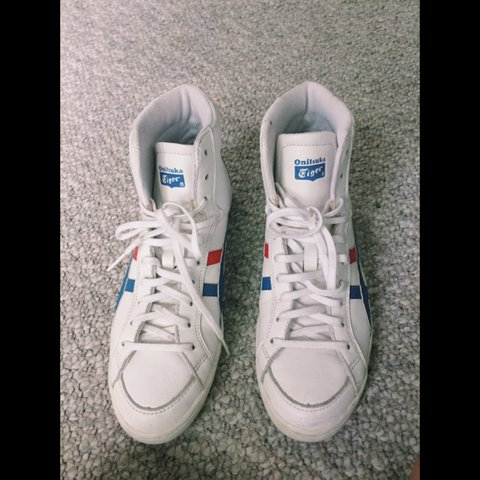 4e7115ea6dce Onitsuka Tiger Mexico 66 high top sneakers ASICS Blue and - Depop