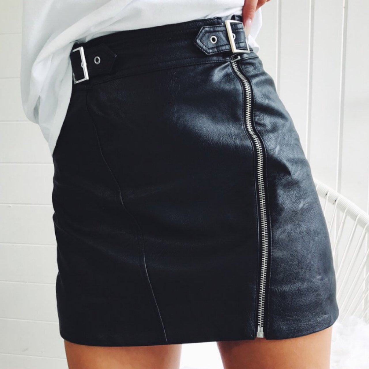 17ecfd75ba56 Topshop Faux Leather Skirt