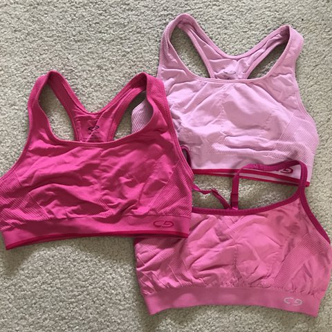 479a3ec27f2c2 BUNDLE 3 pink Champion sports bras. All are a size small. - Depop