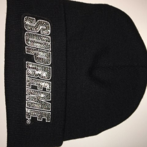 2feaec0d6bc ❌SOLD❌ supreme sequin beanie in black Brand new Will send - Depop