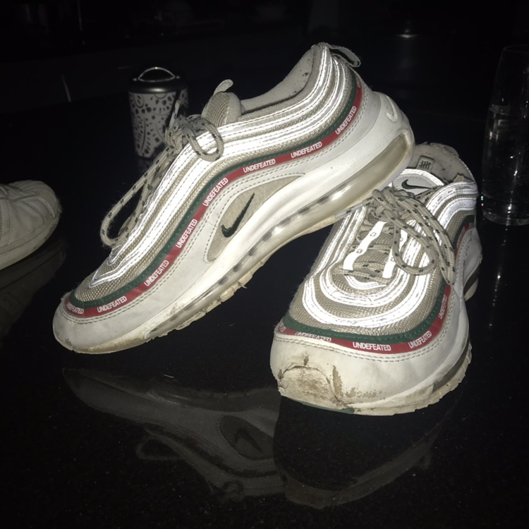 quality design 939e4 453fb nike air max 97s undefeated - white bought for... - Depop
