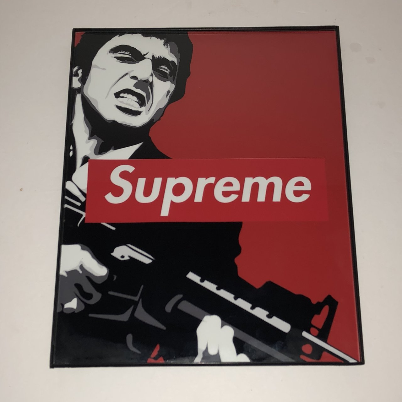 Supreme Scarface Art Print With Frame Print On Semi Luster Depop