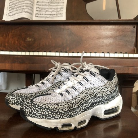 sports shoes 4a44a 5c4f6  peony closet. 3 months ago. Orchard Park, United States. Nike air max  95  with black and white speckled polka dot ...