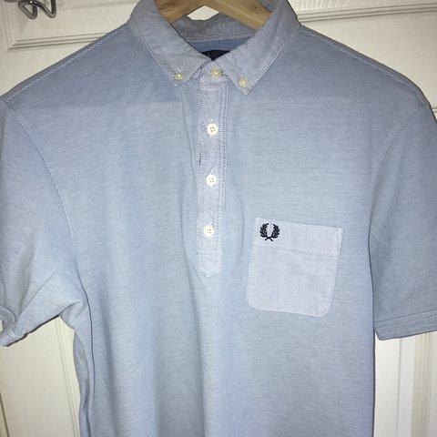00bc22dc2 @thomas_andrew. 5 months ago. Devizes, United Kingdom. Light blue Fred Perry  vintage polo with breast pocket