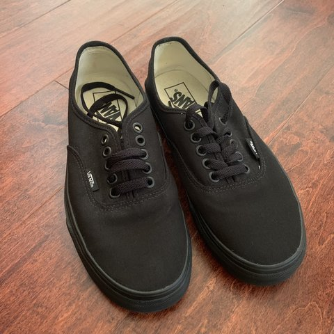 "5a0764043be Vans ""Authentic"" black on black sneakers Brand new Size 6.5 - Depop"