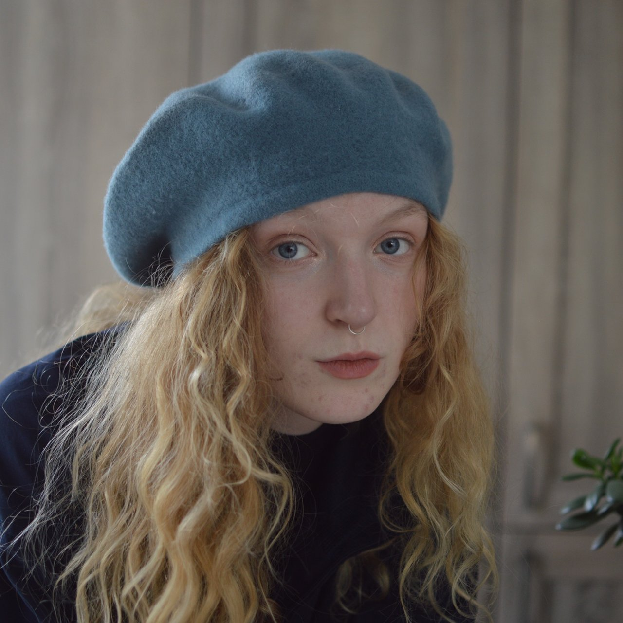 Vintage 100% wool baby blue beret. One size. Preloved Class - Depop 34bb5b3ebf4