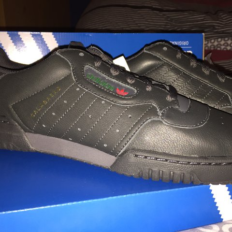 3097406bcca 📍adidas yeezy powerphase 🌈colour  black 📏size uk 10 is no - Depop