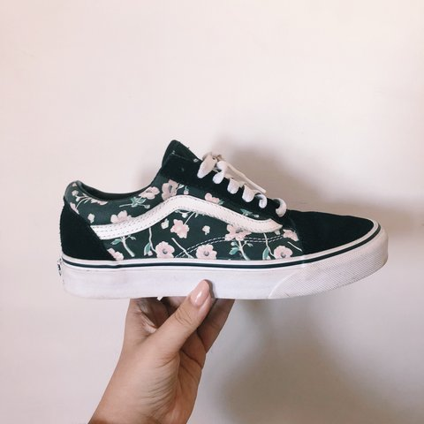 3886c3b10f820 @bpstore. last year. Broadstairs, United Kingdom. Vans Old Skool with pink  floral print ...