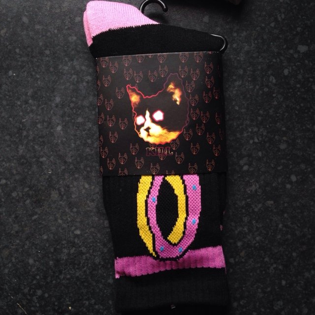 37556bed4679 New odd future black donut sock! Golfwang Tyler the creator! - Depop
