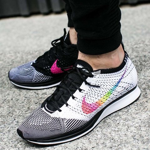 37a8cc1bb01c5 Nike Flyknit Racer Be True Model Number 902366 100 Brand in - Depop
