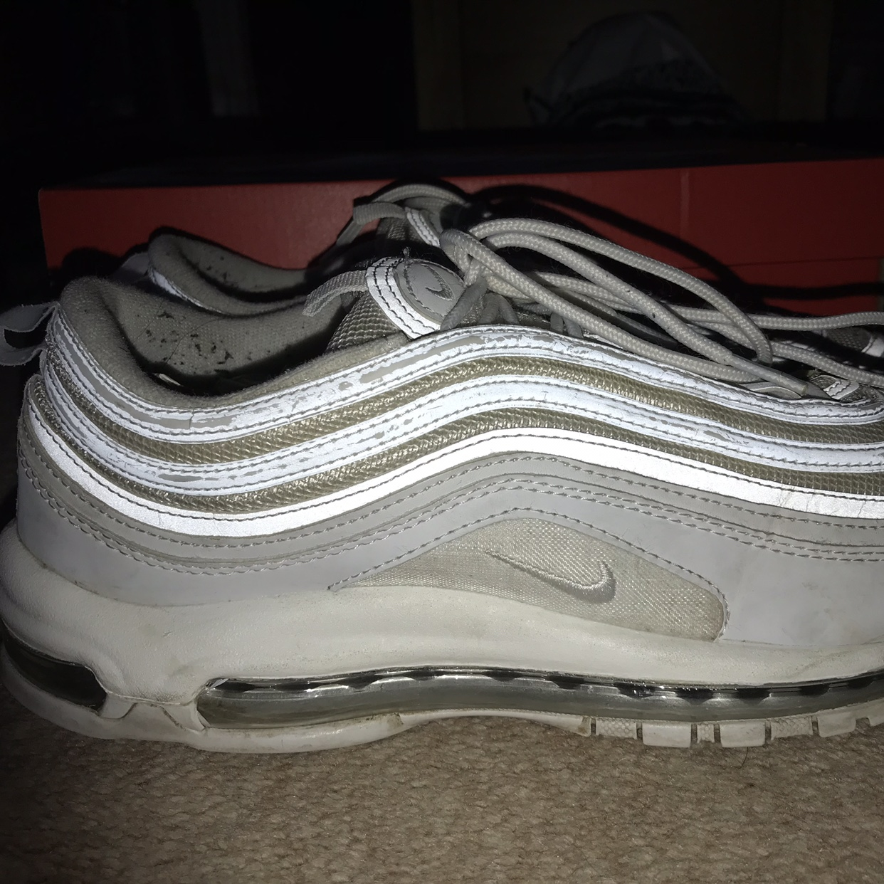 Nike Air Max 97's in White Second hand