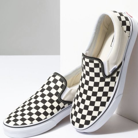 2628dd55e209 Classic Vans checkerboard slip-on🏁 Worn once— minor on on - Depop