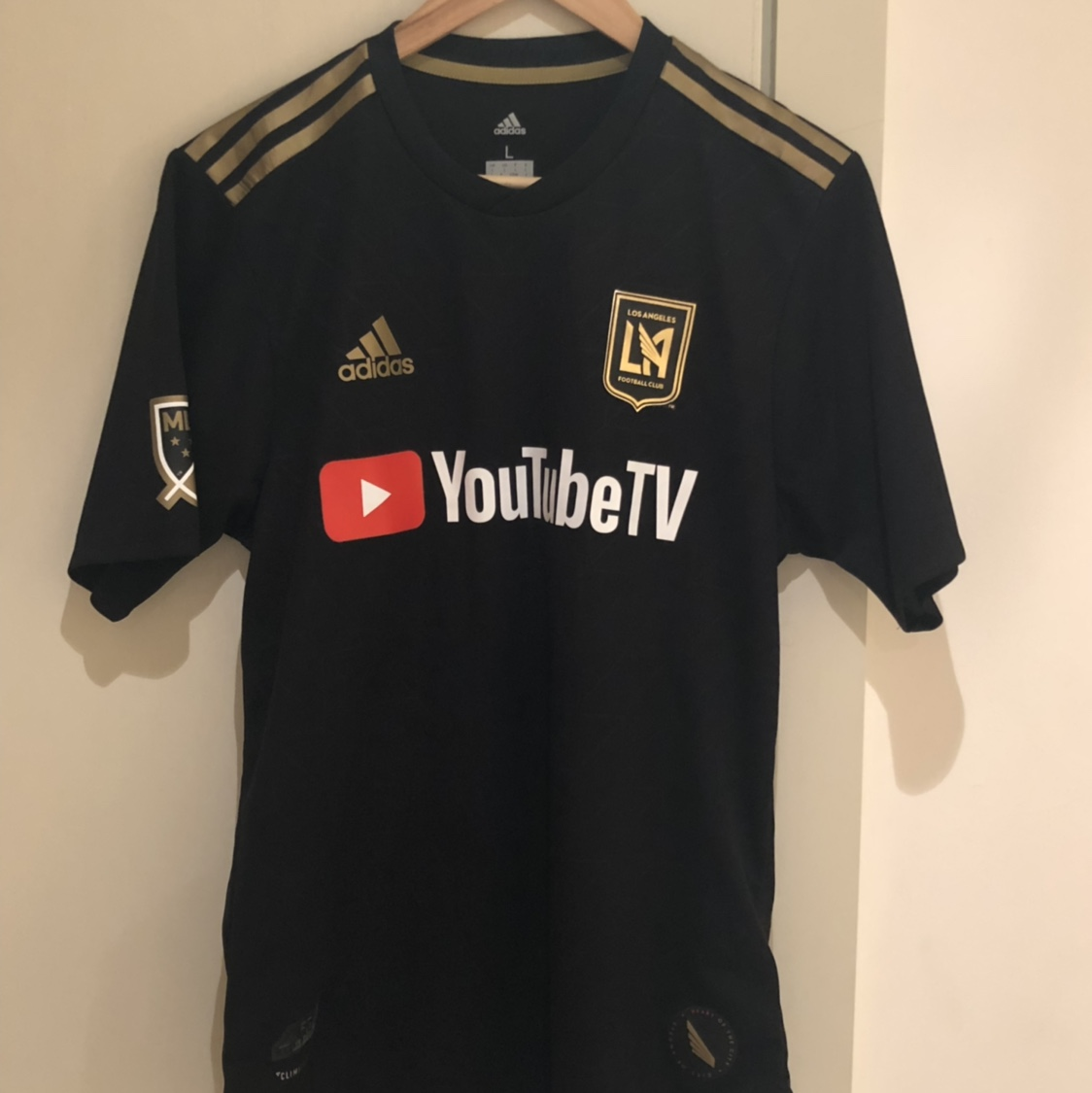 sports shoes 39dac 7af50 Authentic LAFC 2018 Home Shirt Players Edition VELA... - Depop