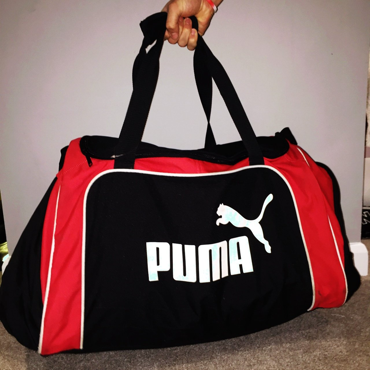 Large Puma kit bag! Virtually brand new! Shipping included - Depop a4bd4ec5ce5d9