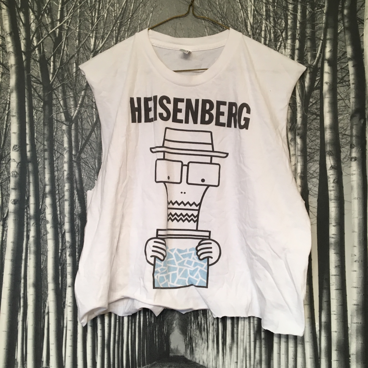 05c53107af6 ❤ DIY Crop Top Cut Up Tee Heisenberg Breaking Bad Size tee - Depop