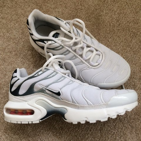 641f9f353d5bb White and black fade Nike tns tn bought from footlocker     - Depop