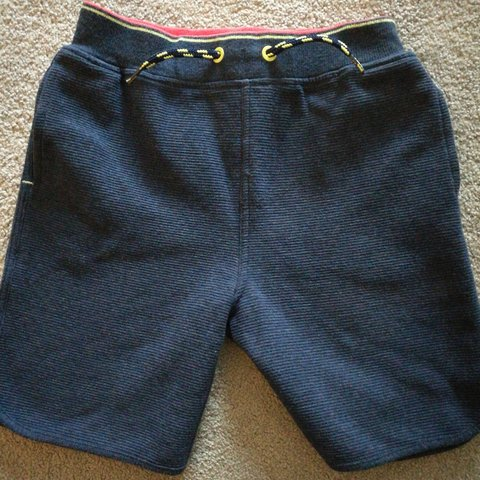 804bba00fc6e Boys shorts Ted baker Age 6-7 years Navy with neon stripe - Depop