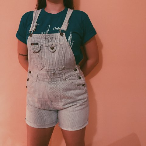 a8364b92af89 ❤ 🚂Vintage 80s Route 66 Ladies Denim Overall Shorts
