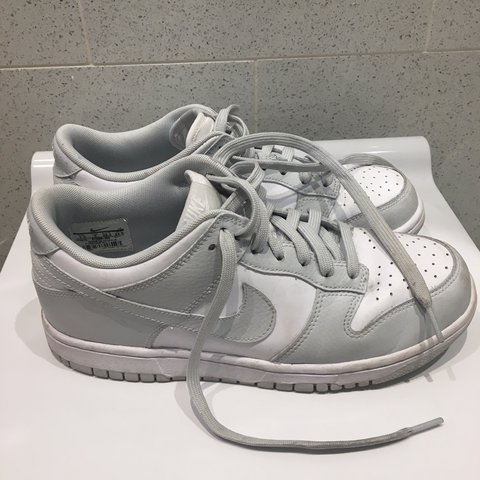 bc17fc9dd15 nike air force grey and white womens size 5 worn a couple of - Depop