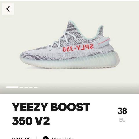 ... free shipping adidas yeezy boost 350 v2 blue tint size eu 38 uk 5. send 8700c5c56